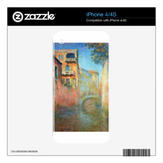 Rio della Salute 03 by Claude Monet Decal For The iPhone 4S