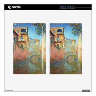 Rio della Salute 03 by Claude Monet Kindle Fire Decals