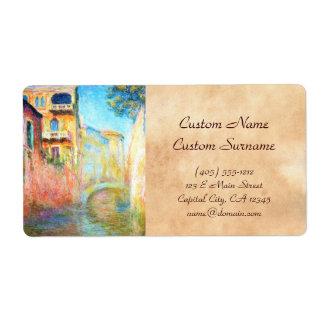 Rio della Salute  Claude Monet Label