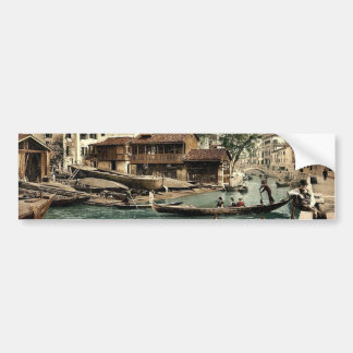 Rio di San Trovaso, Venice, Italy classic Photochr Car Bumper Sticker