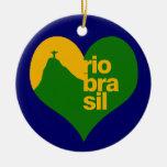 Río el Brasil 2014 Adorno Redondo De Cerámica