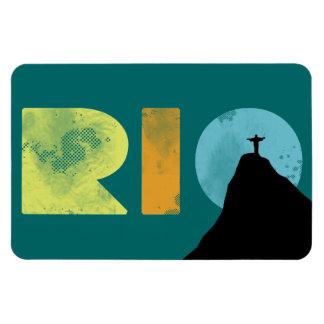 RÍO el Brasil con la montaña de Corcovado Imanes De Vinilo