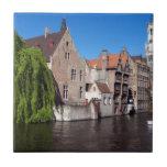 Río en Brujas, Bélgica Teja