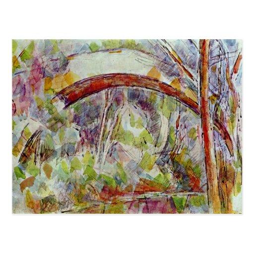 Río en el puente de las tres fuentes postales