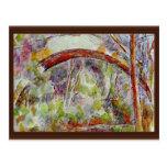 Río en el puente de las tres fuentes tarjetas postales