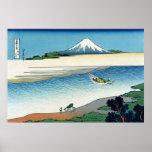 Río en la provincia de Musashi, Hokusai de Tama Impresiones