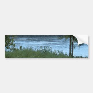 Río en Missouri Etiqueta De Parachoque