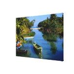 Río escénico cerca de Ocho Rios en Jamaica Impresión En Lona