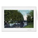 Río escénico con la canoa SceneEugene, O Tarjeton