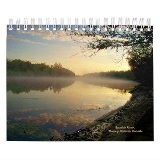 "Río español, Massey, ENCENDIDO, Canadá 7"""" Calendario De Pared"