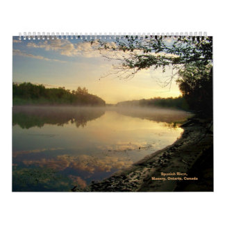 Río español, Massey, ENCENDIDO, Canadá C… -14&1/4 Calendario