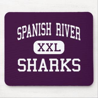 Río español - tiburones - alto - Boca Raton la Flo Tapete De Ratones
