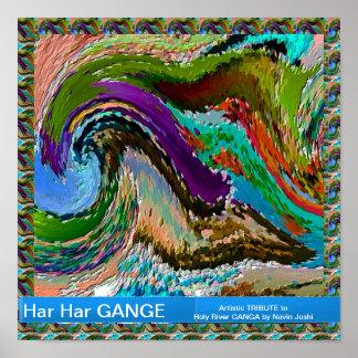 Río GANGA. Imaginación del artista Posters