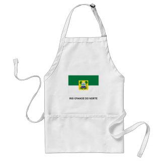 Rio Grande do Norte, Brazil Flag Adult Apron