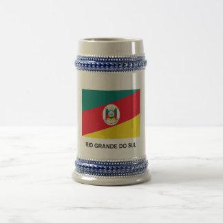 Rio Grande do Sul, Brazil Flag Beer Stein