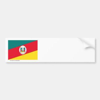 Rio Grande do Sul, Brazil Flag Bumper Sticker