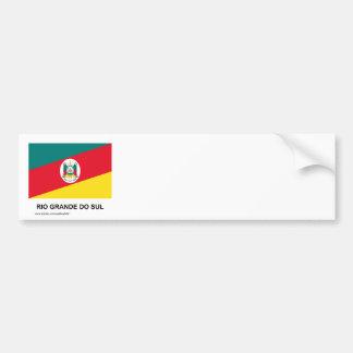 Rio Grande do Sul, Brazil Flag Bumper Stickers