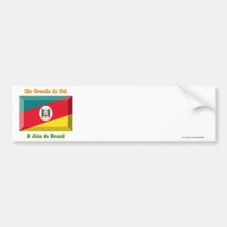 Rio Grande do Sul Flag Gem Bumper Sticker
