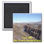 Rio Grande Gorge Bridge Taos, New Mexico 2 Inch Square Magnet