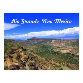 Rio Grande River, New Mexico Landscape Postcard