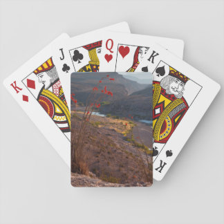 Rio Grande Running Through Chihuahuan Desert Playing Cards