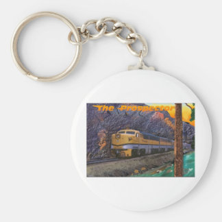 Rio Grande's Prospector in the Royal Gorge Basic Round Button Keychain