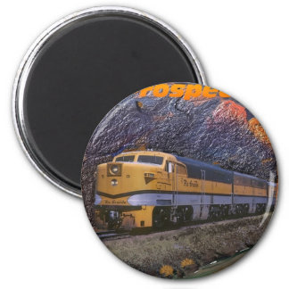 Rio Grande's Prospector in the Royal Gorge 2 Inch Round Magnet
