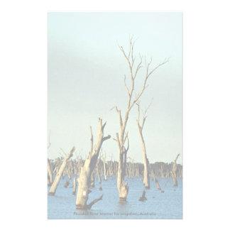 Río inundado Murray para la irrigación, Australia Papeleria De Diseño