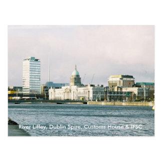 Río Liffey de Dublín chapitel y aduanas