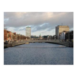 Río Liffey Irlanda Dublín Postal