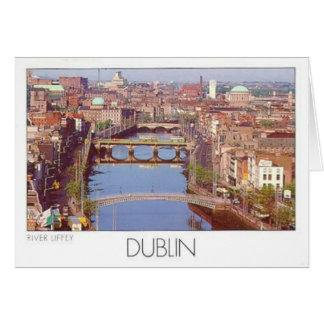 Río Liffey (St.K.) de Irlanda Dublín Tarjetas