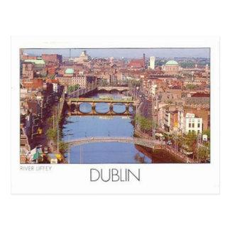 Río Liffey St K de Irlanda Dublín Postales