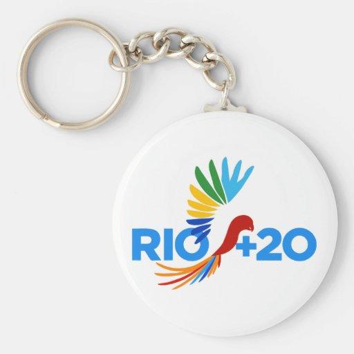 Río+Logotipo de 20 alternativas Llavero Redondo Tipo Pin