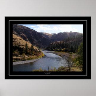 Río magnífico de Ronde, Troy, Oregon Póster