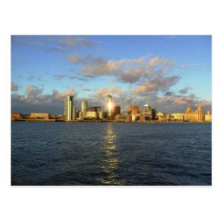 Río Mersey y costa de Liverpool Postales