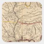 Río Misisipi Calcomanías Cuadradases