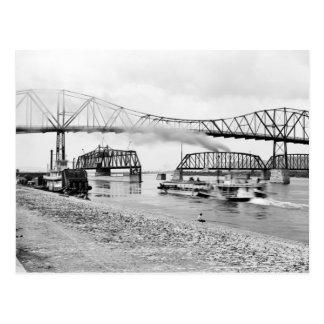 Río Misisipi en Winona, 1880s Tarjetas Postales