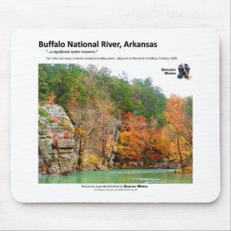 Río nacional II del búfalo - la caída colorea 2009 Tapetes De Ratón