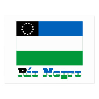 Río Negro flag with name Postcard