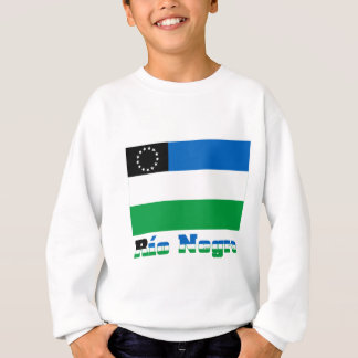 Río Negro flag with name Sweatshirt