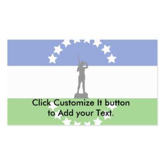 Rio Negro No Oficial, Argentina flag Business Cards