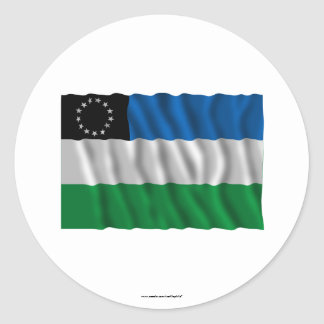 Río Negro waving flag Classic Round Sticker