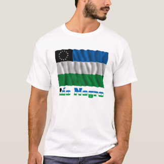 Río Negro waving flag with name T-Shirt