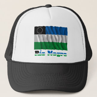 Río Negro waving flag with name Trucker Hat