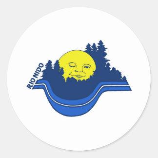 Rio Nido logo Classic Round Sticker