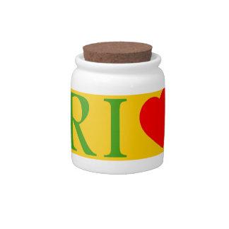 Rio of janeiro coils candy jar