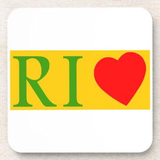 Rio of janeiro coils drink coaster