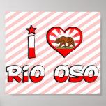 Río Oso, CA Poster