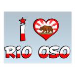 Río Oso, CA Tarjeta Postal
