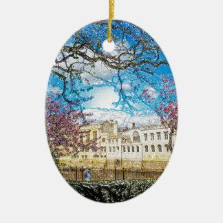 Río Ouse del consistorio de la ciudad de York Ornamentos De Navidad